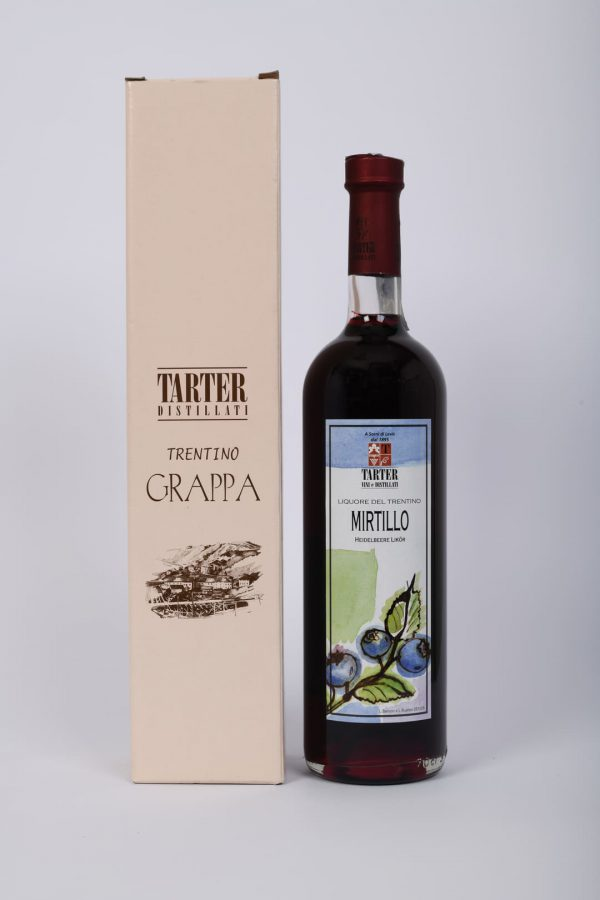 Grappa al mirtillo 70 cl con scatola