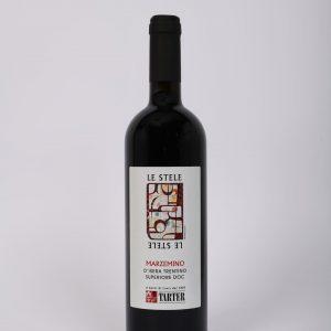 bottiglia di vino rosso trentino marzemino superiore