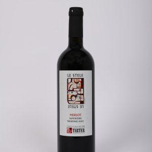Bottiglia 75 Cl di vino rosso trentino Merlot Superiore